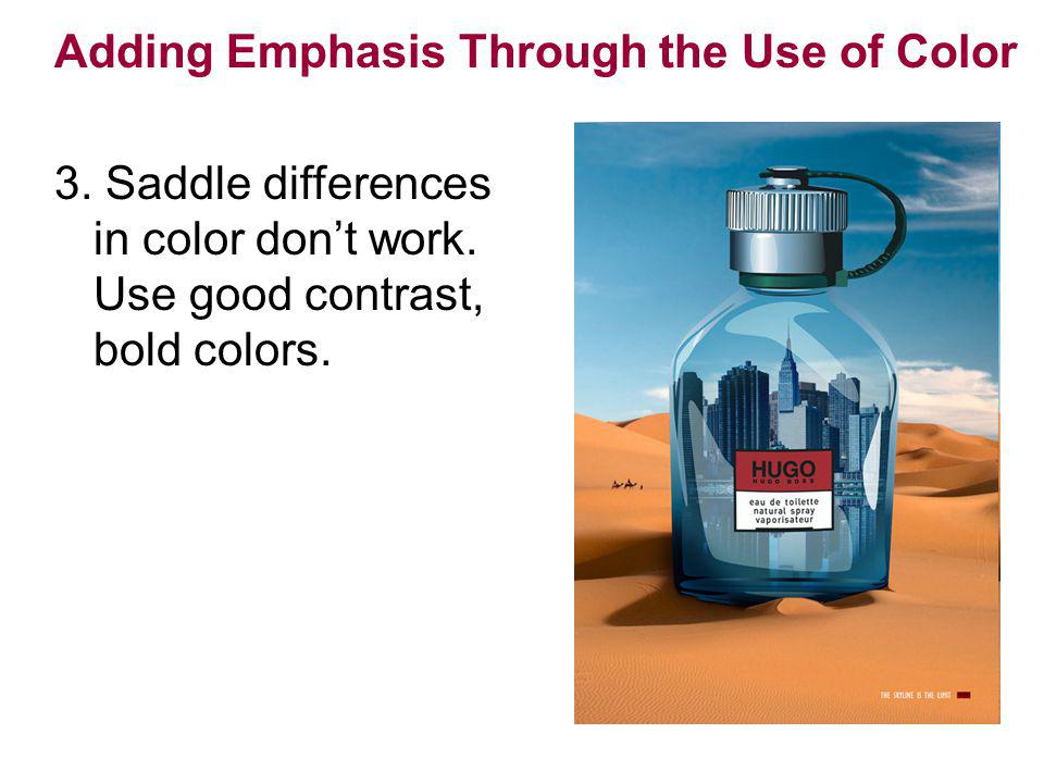 Adding Emphasis Through the Use of Color