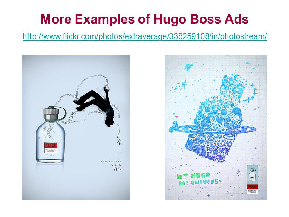More Examples of Hugo Boss Ads