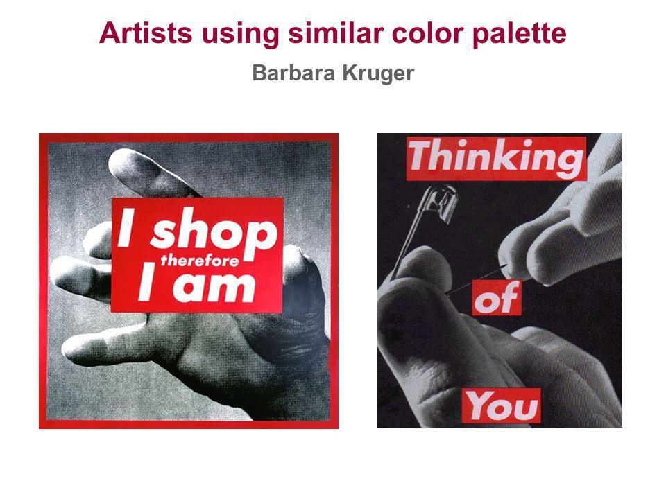Artists using similar color palette