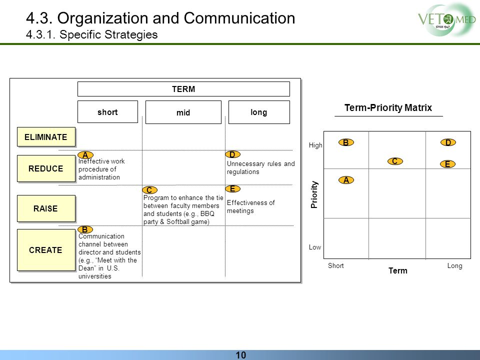 4.3. Organization and Communication