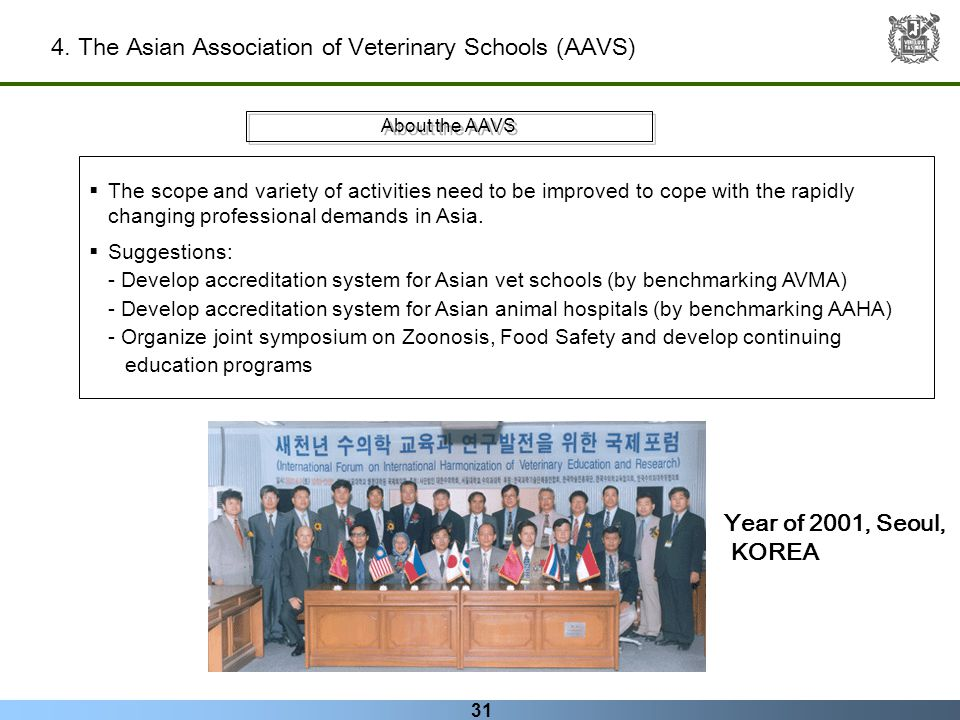 4. The Asian Association of Veterinary Schools (AAVS)