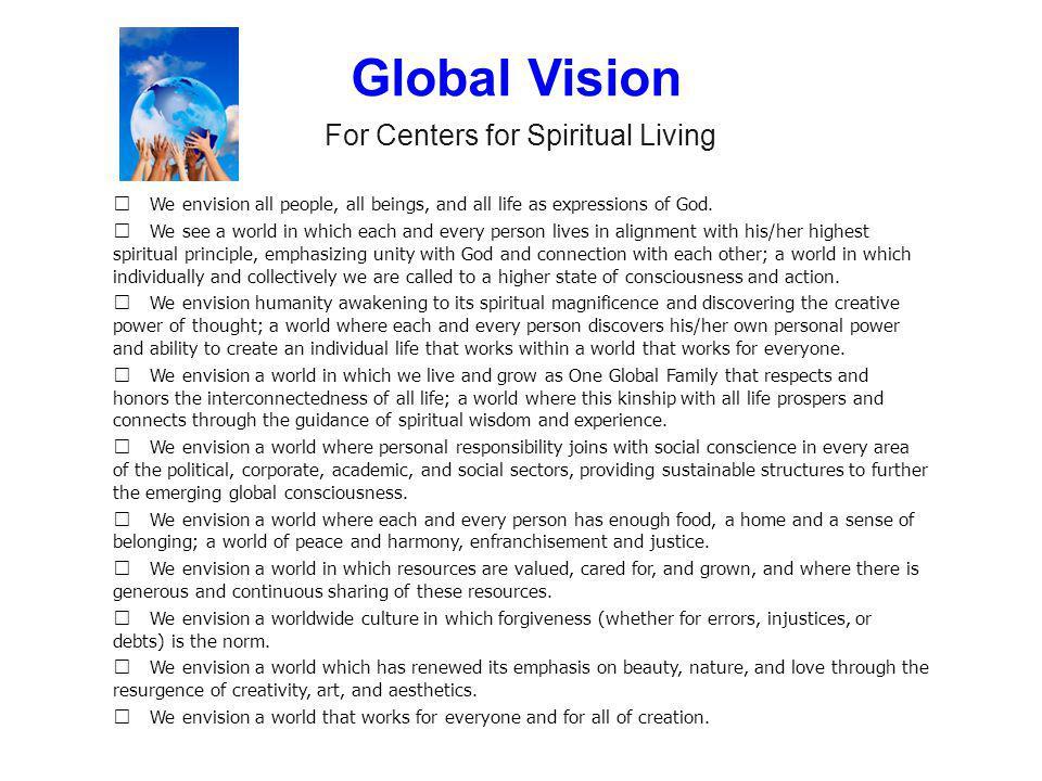 For Centers for Spiritual Living