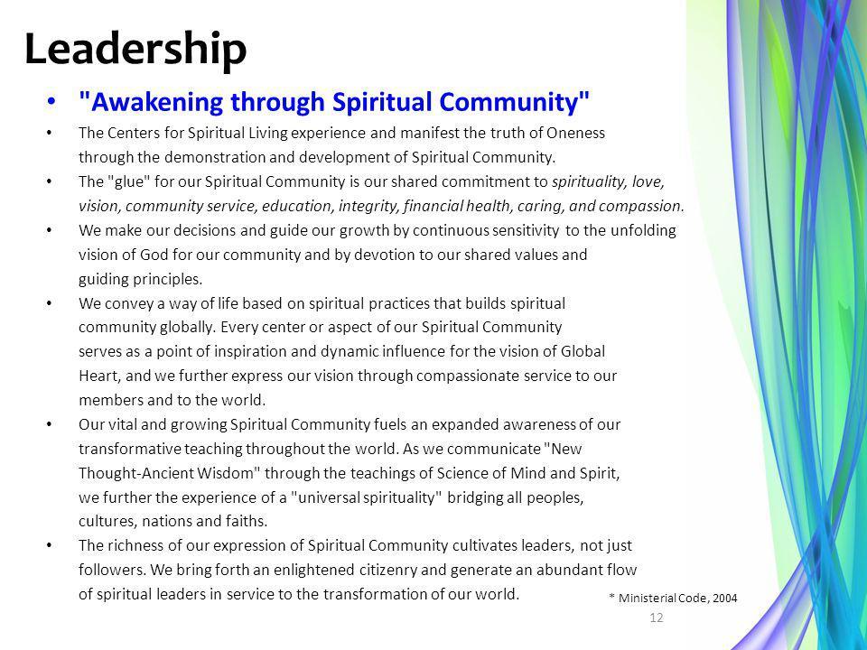 Leadership Awakening through Spiritual Community