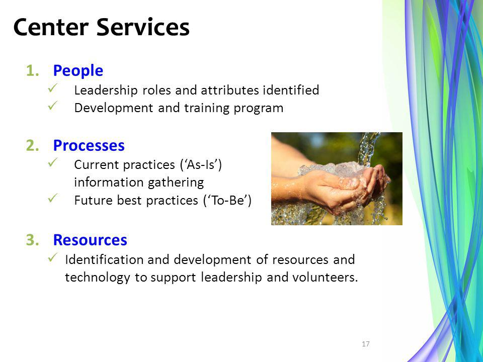 Center Services People Processes Resources