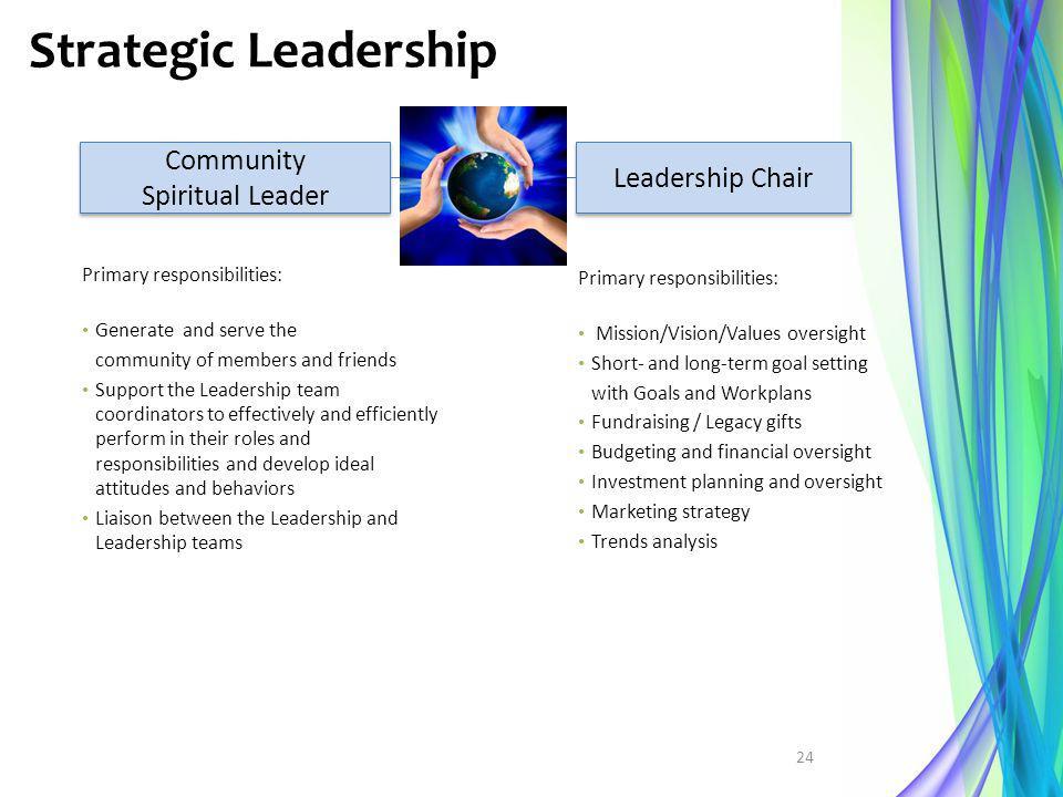Strategic Leadership Community Leadership Chair Spiritual Leader