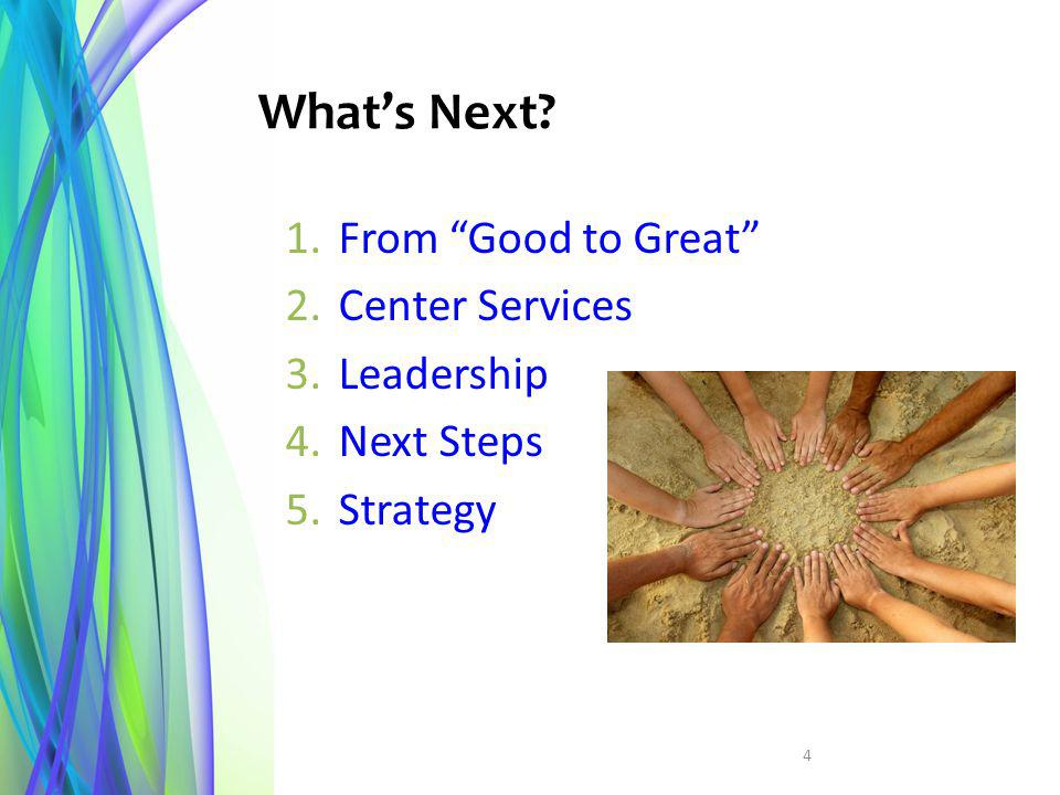 What's Next From Good to Great Center Services Leadership