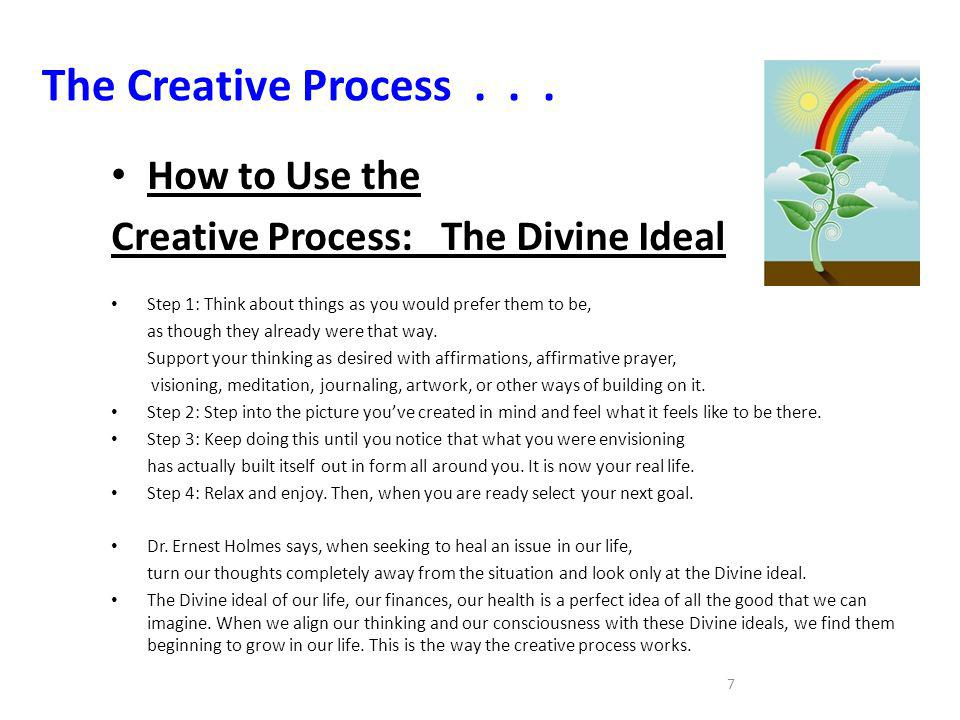 The Creative Process . . . How to Use the