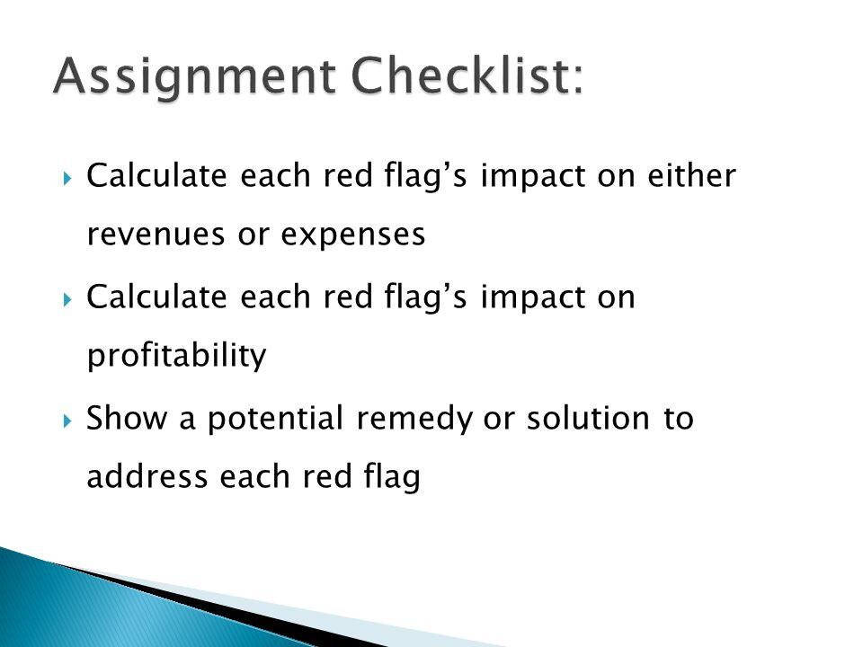 Assignment Checklist: