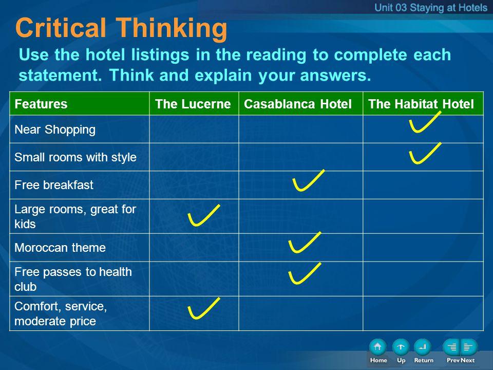 TB-Critical Thinking Critical Thinking