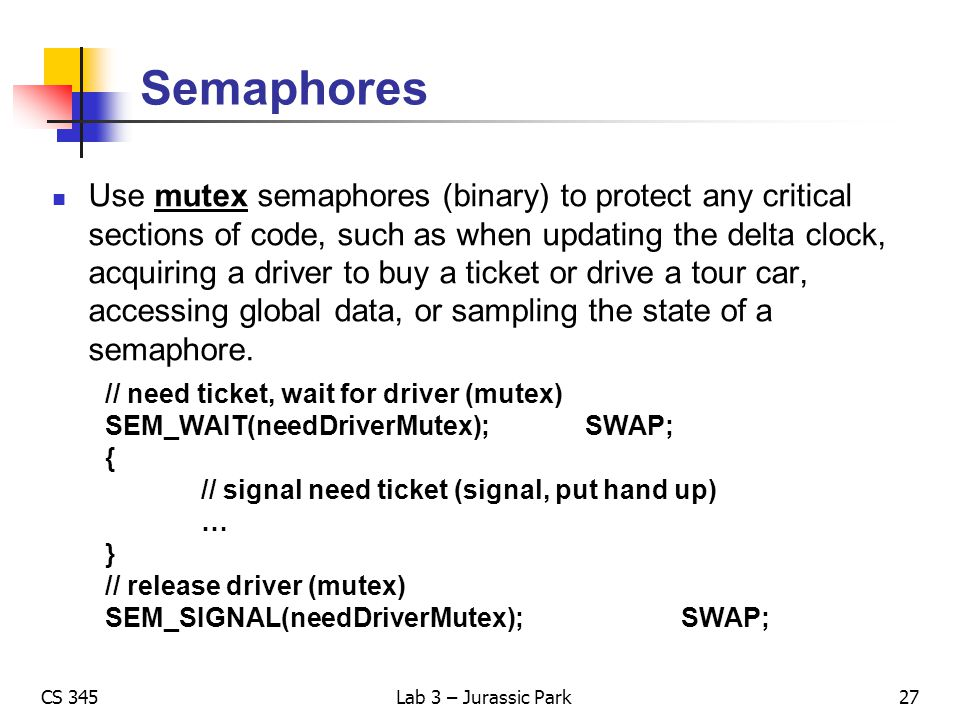 Semaphores