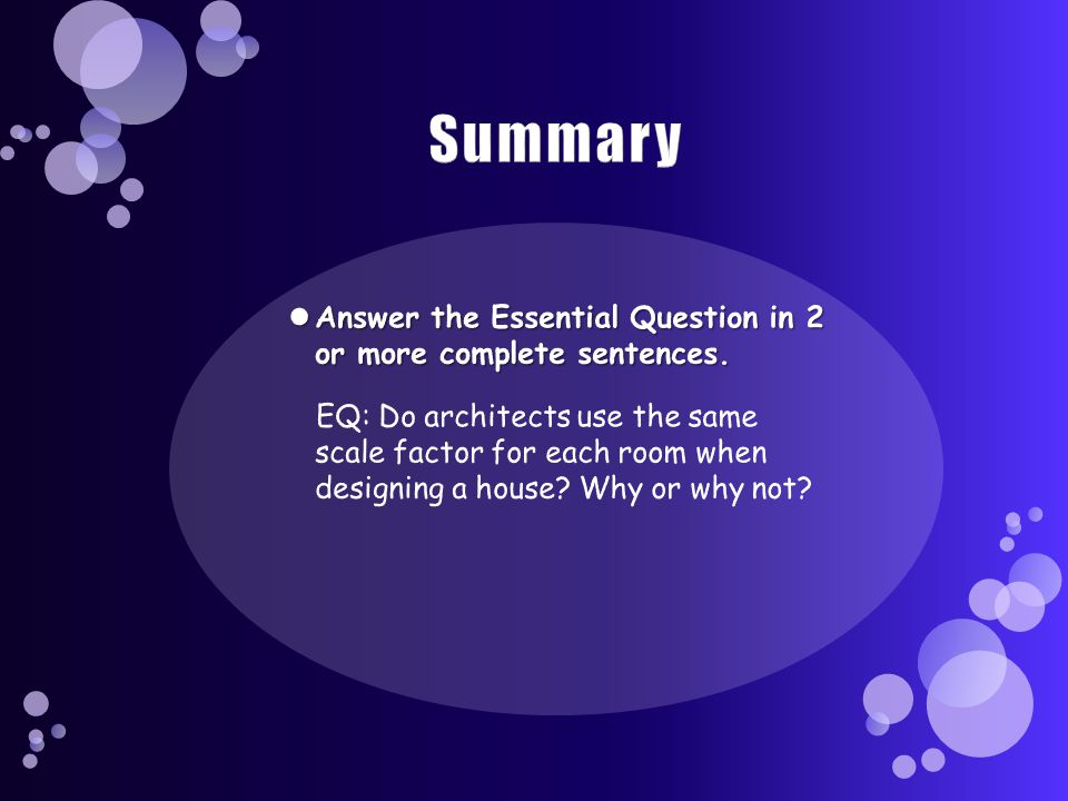 Summary Answer the Essential Question in 2 or more complete sentences.