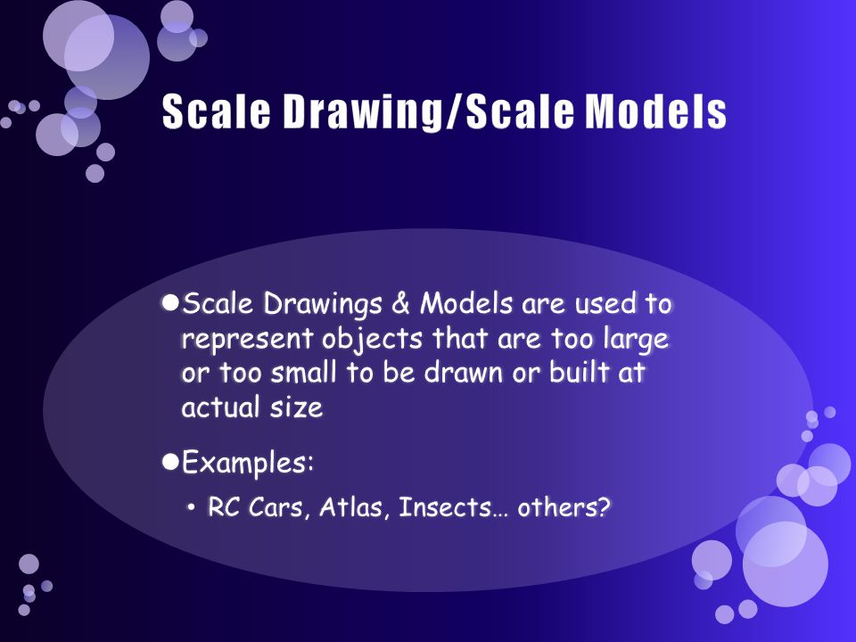 Scale Drawing/Scale Models