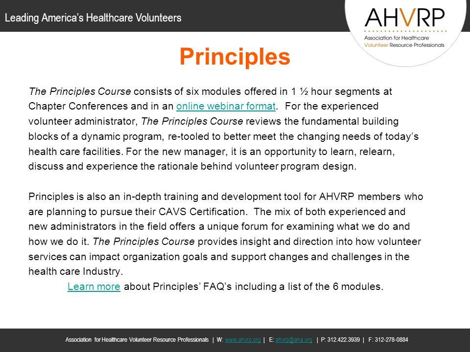 Learn more about Principles' FAQ's including a list of the 6 modules.
