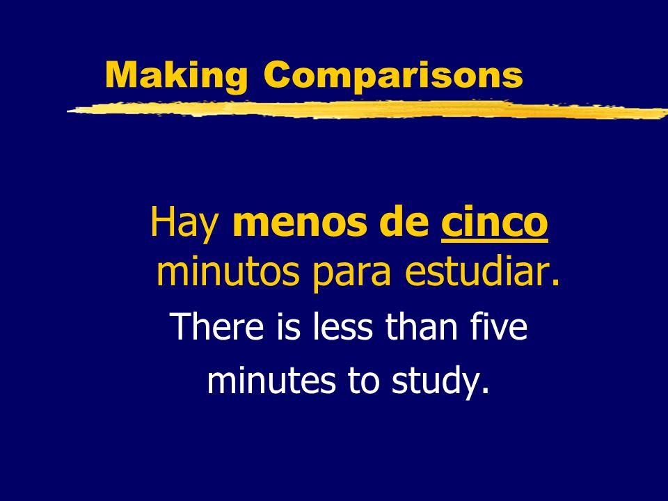 Hay menos de cinco minutos para estudiar.
