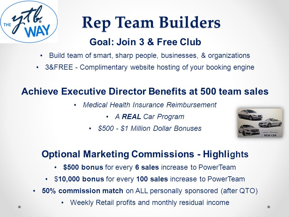 Rep Team Builders Goal: Join 3 & Free Club