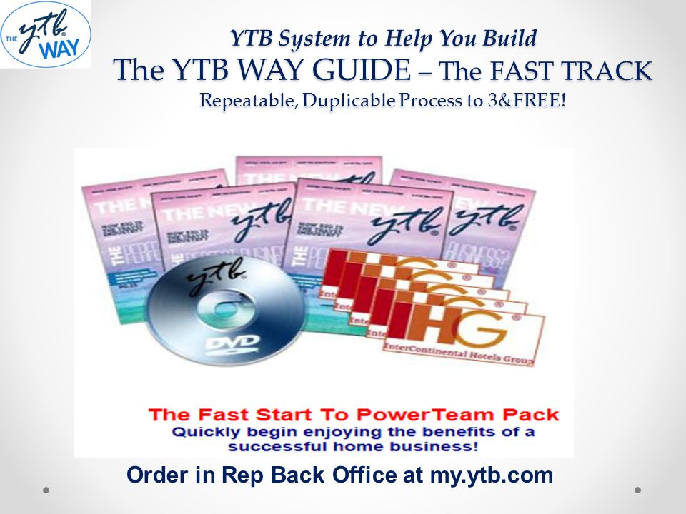 Order in Rep Back Office at my.ytb.com