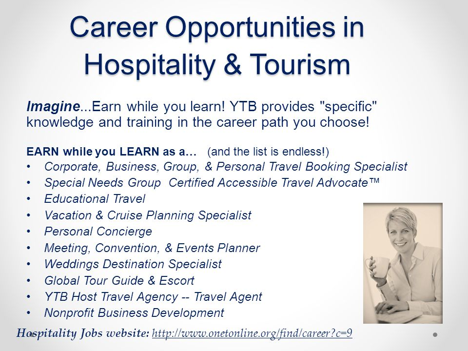 Career Opportunities in Hospitality & Tourism