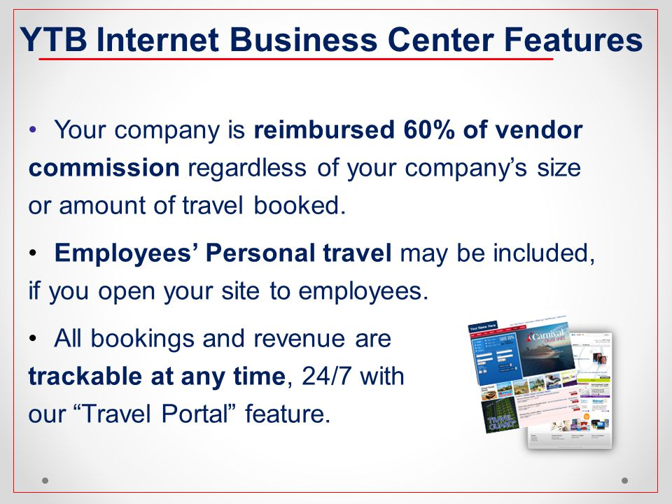 YTB Internet Business Center Features