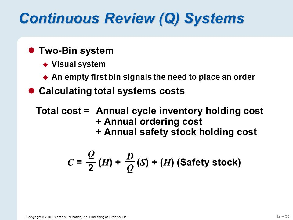 Continuous Review (Q) Systems
