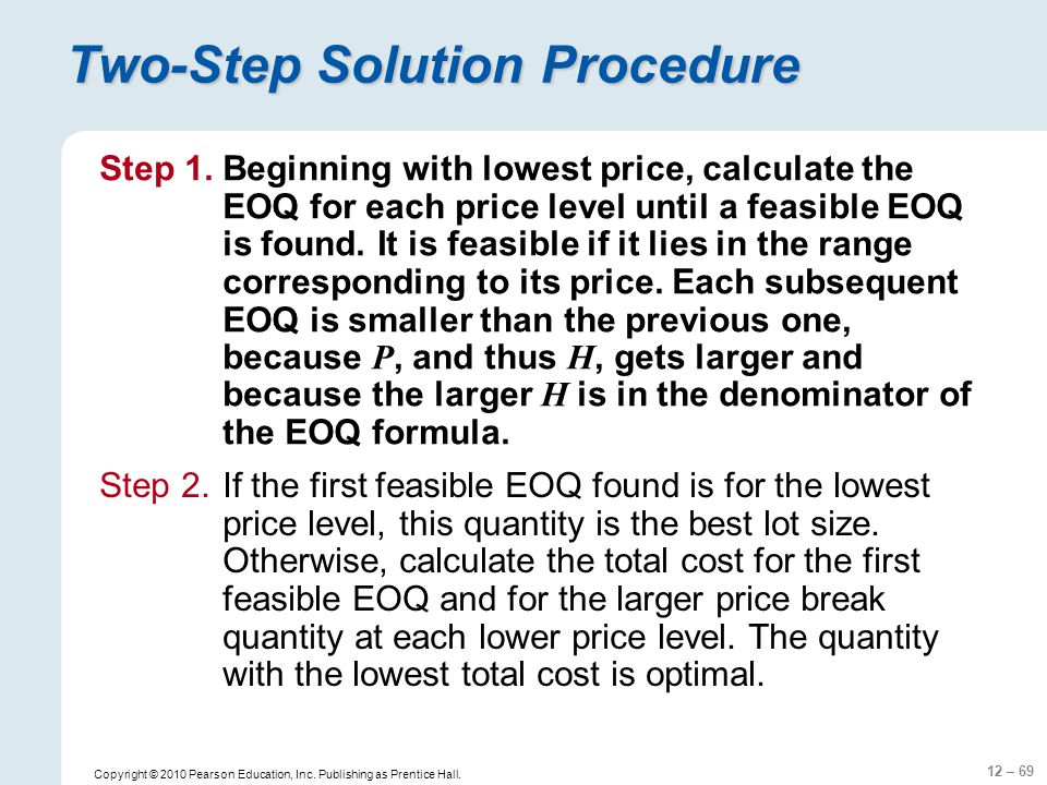 Two-Step Solution Procedure