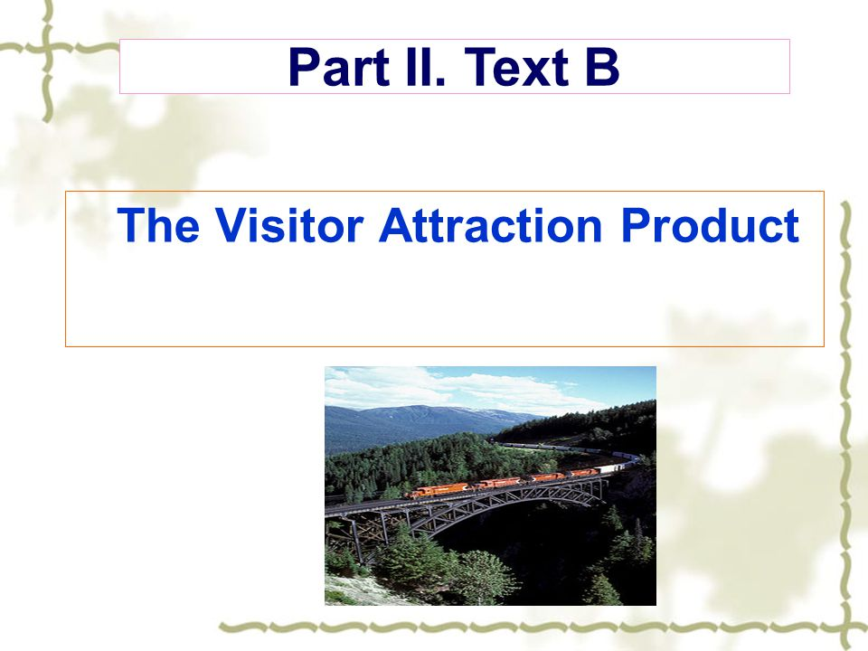 The Visitor Attraction Product