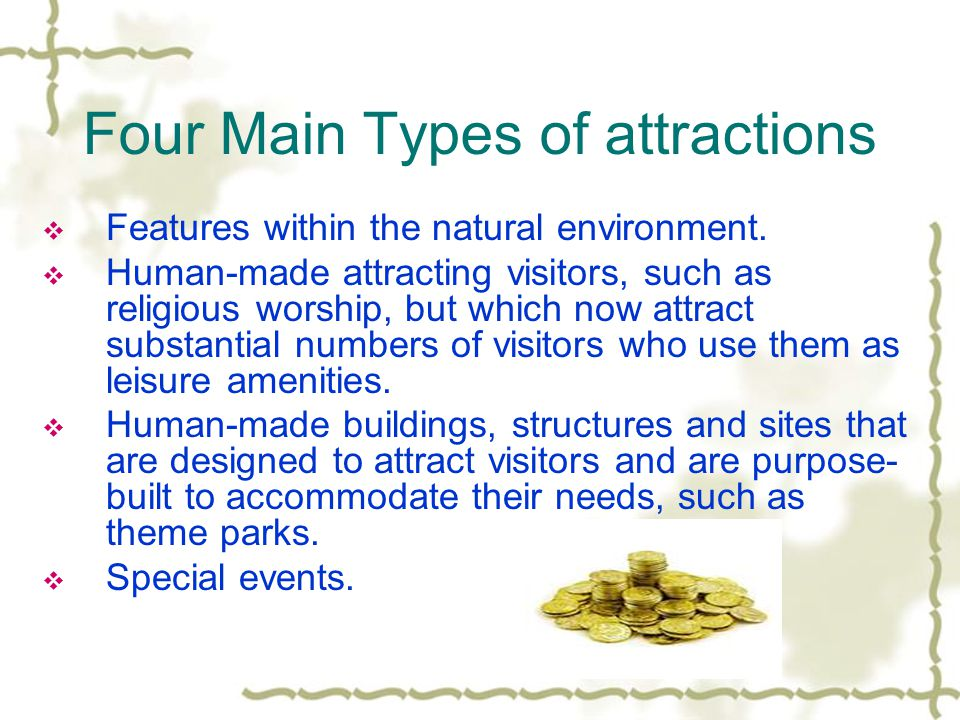 Four Main Types of attractions