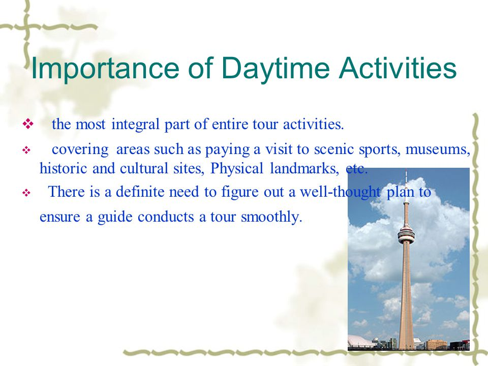 Importance of Daytime Activities