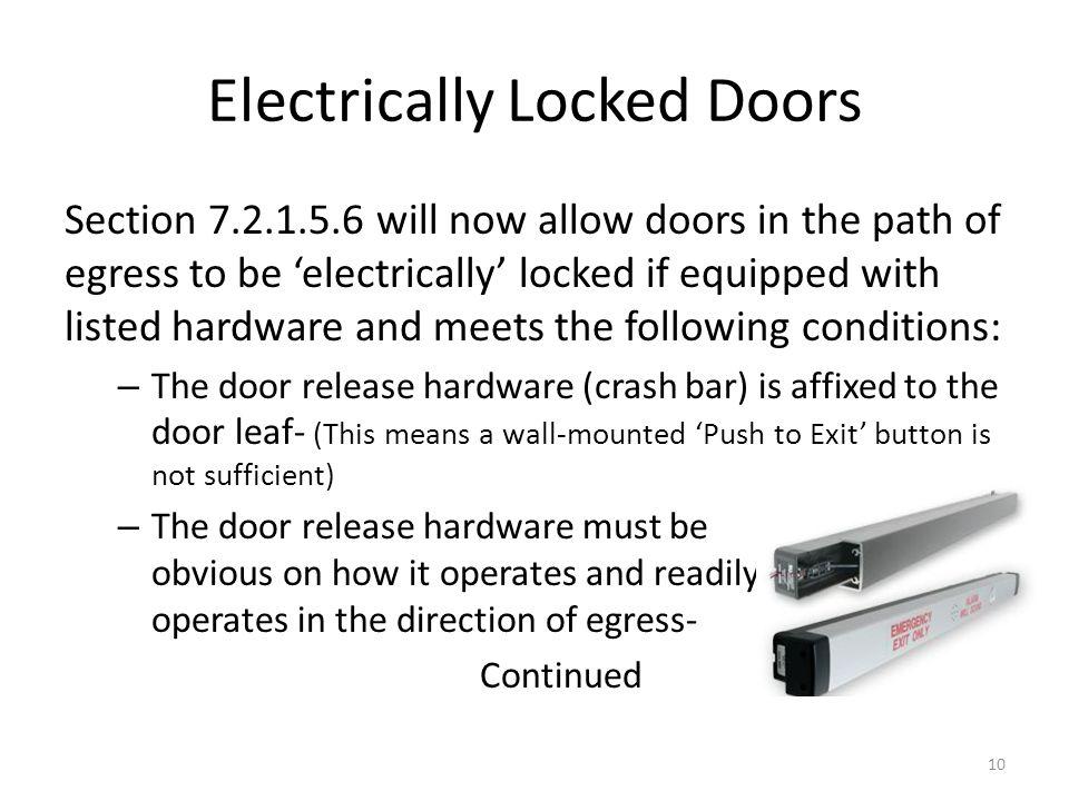 Electrically Locked Doors