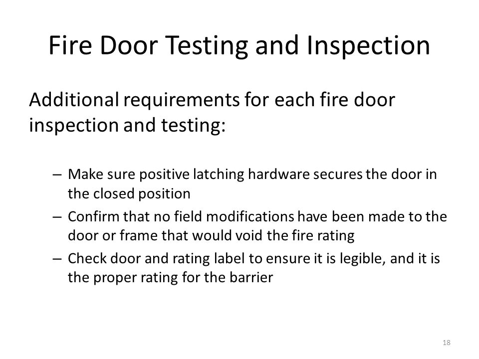 Fire Door Testing and Inspection