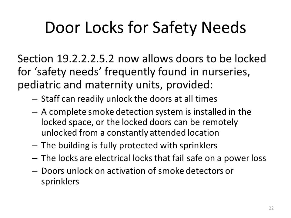 Door Locks for Safety Needs