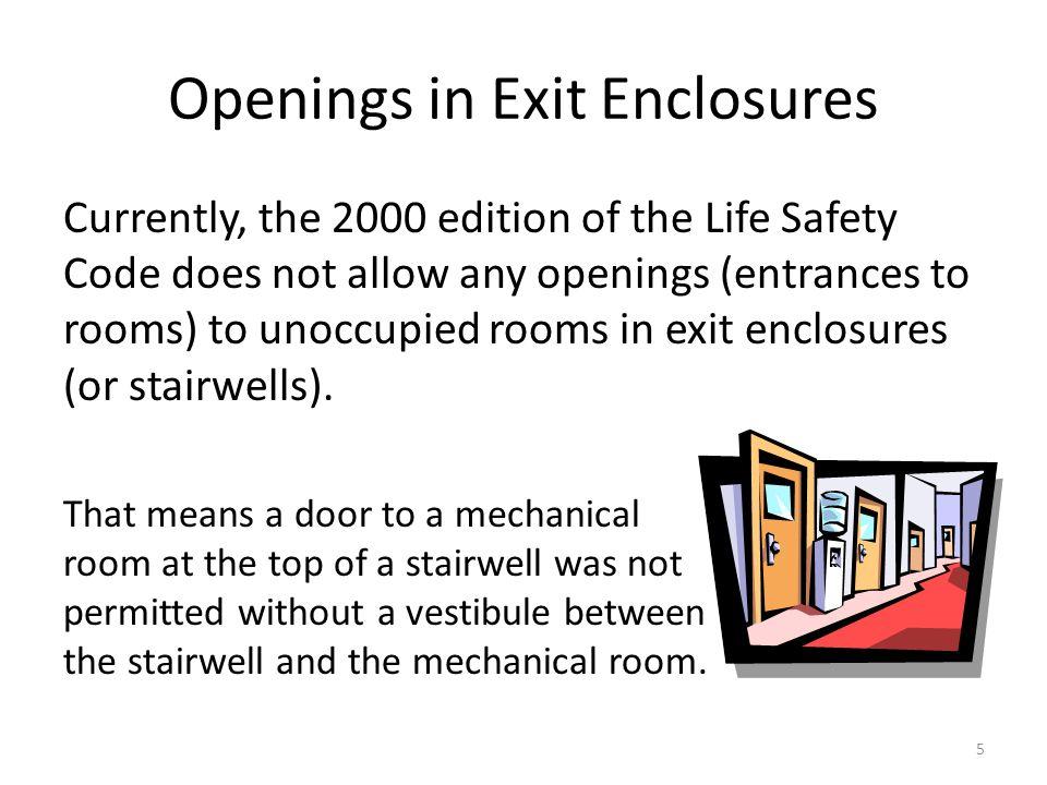 Openings in Exit Enclosures