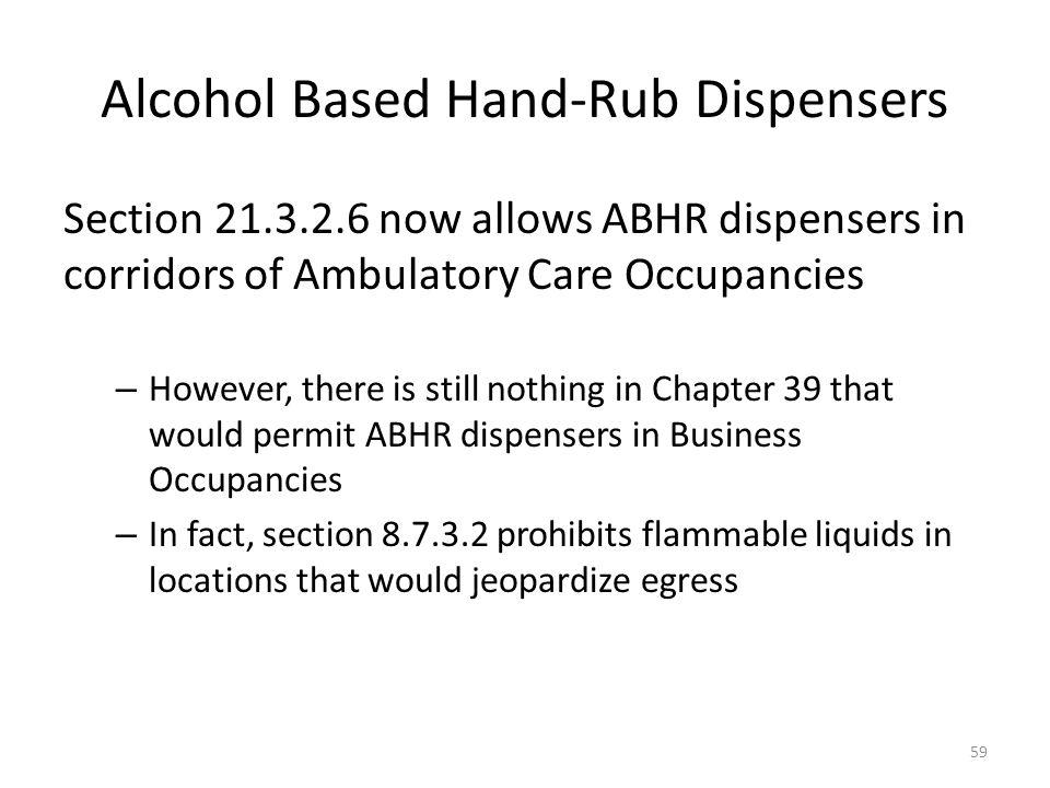 Alcohol Based Hand-Rub Dispensers