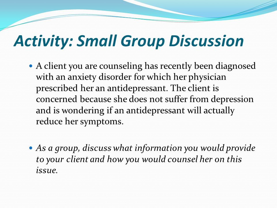 Activity: Small Group Discussion