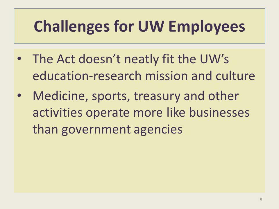 Challenges for UW Employees