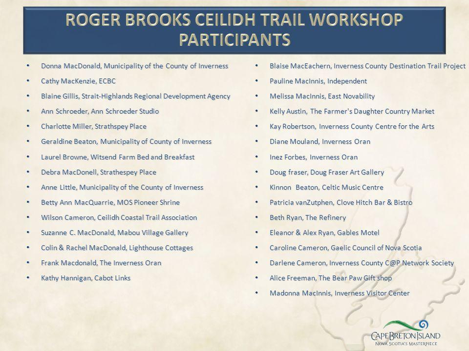 Roger Brooks Ceilidh Trail Workshop Participants