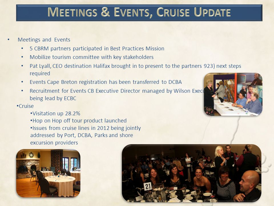 Meetings & Events, Cruise Update