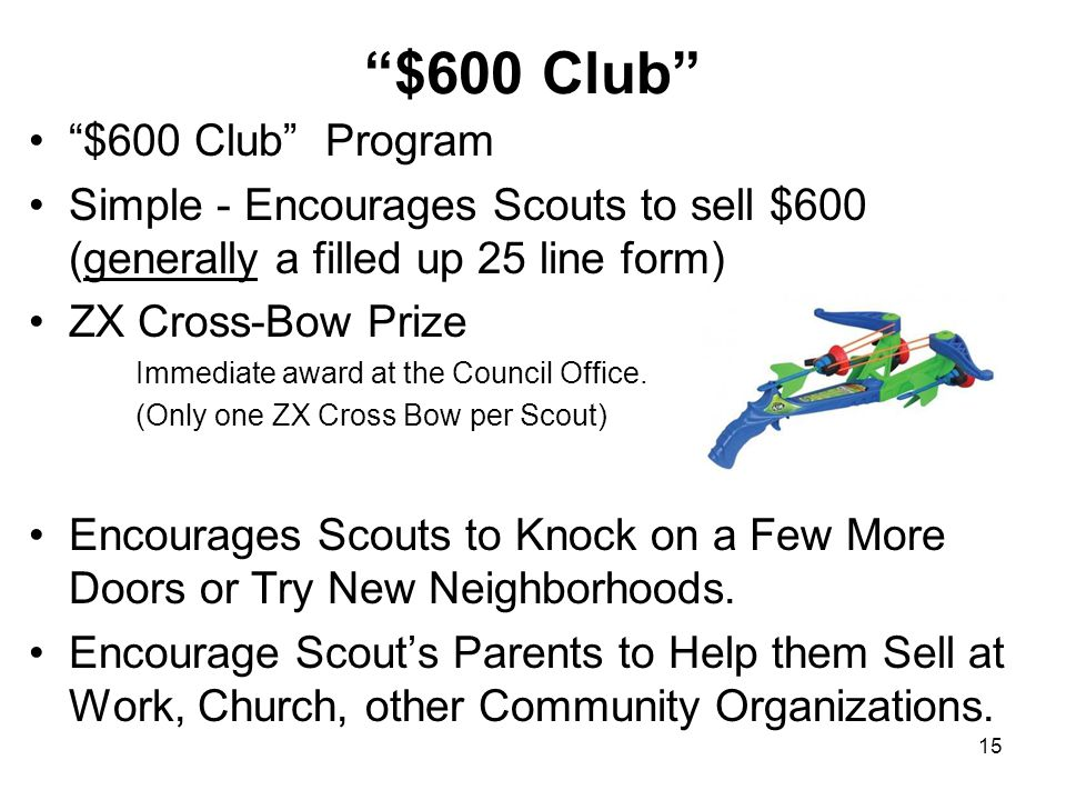 $600 Club $600 Club Program