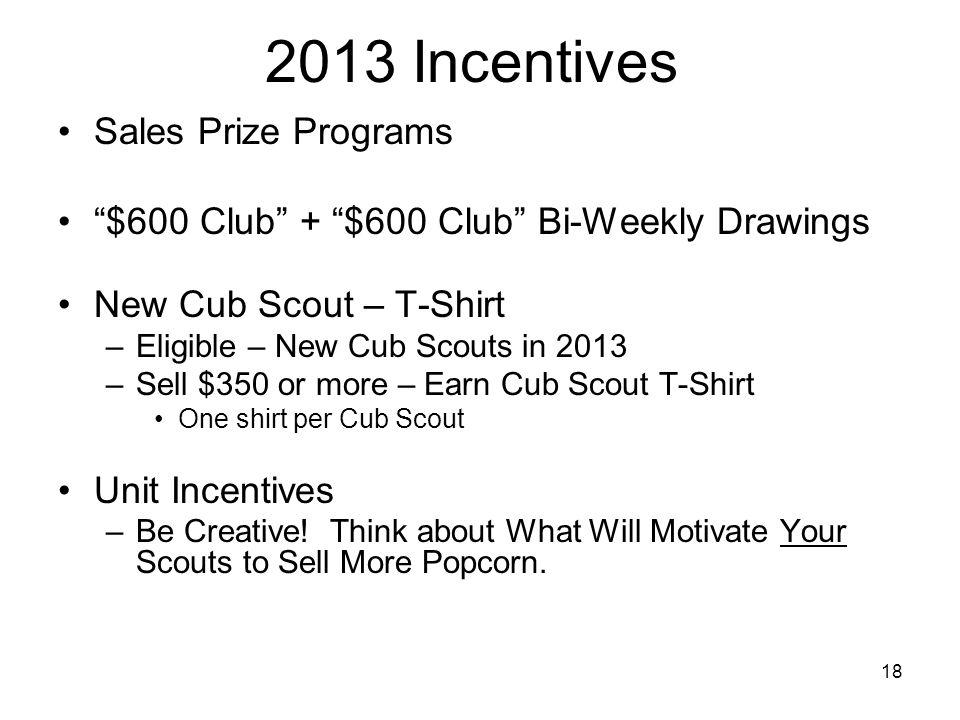 2013 Incentives Sales Prize Programs