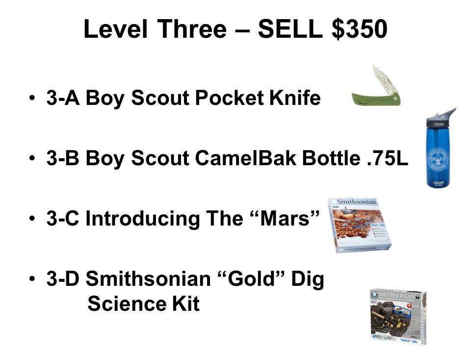 Level Three – SELL $350 3-A Boy Scout Pocket Knife