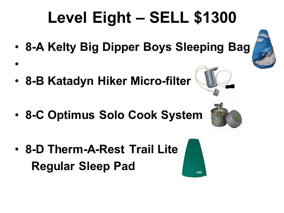 Level Eight – SELL $1300 8-A Kelty Big Dipper Boys Sleeping Bag