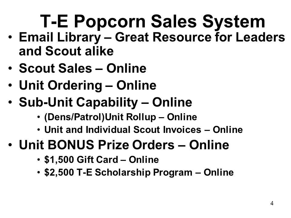 T-E Popcorn Sales System