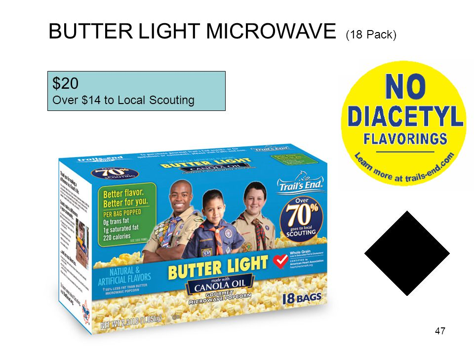 BUTTER LIGHT MICROWAVE (18 Pack)