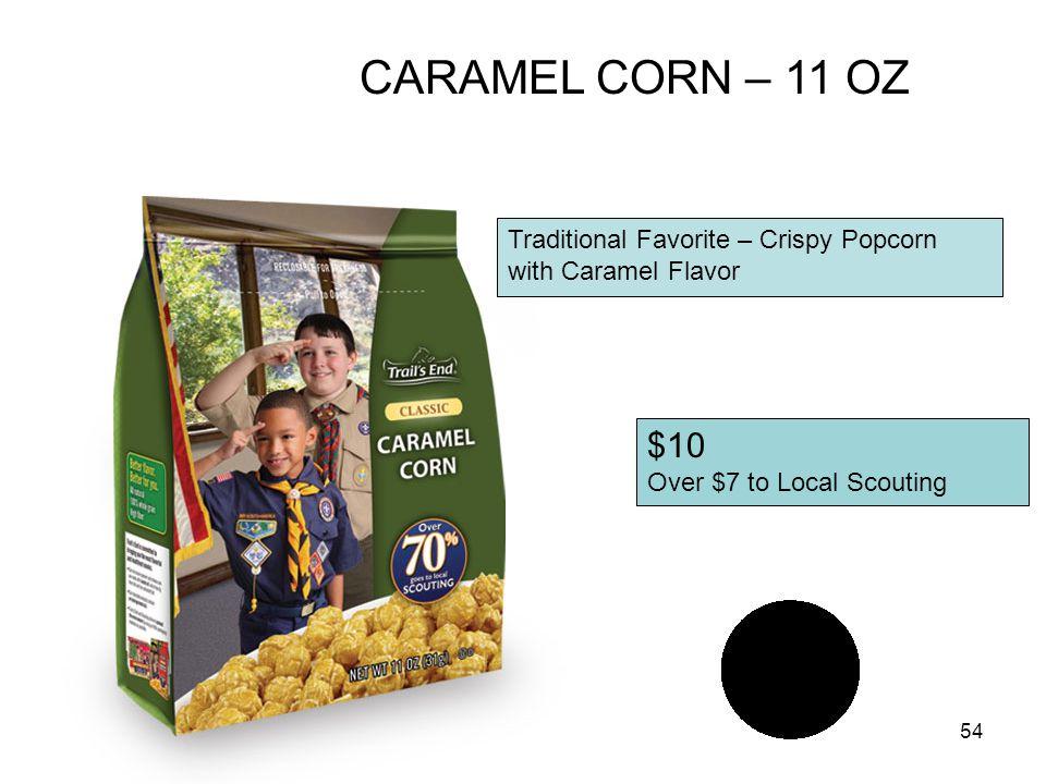 CARAMEL CORN – 11 OZ $10 Traditional Favorite – Crispy Popcorn