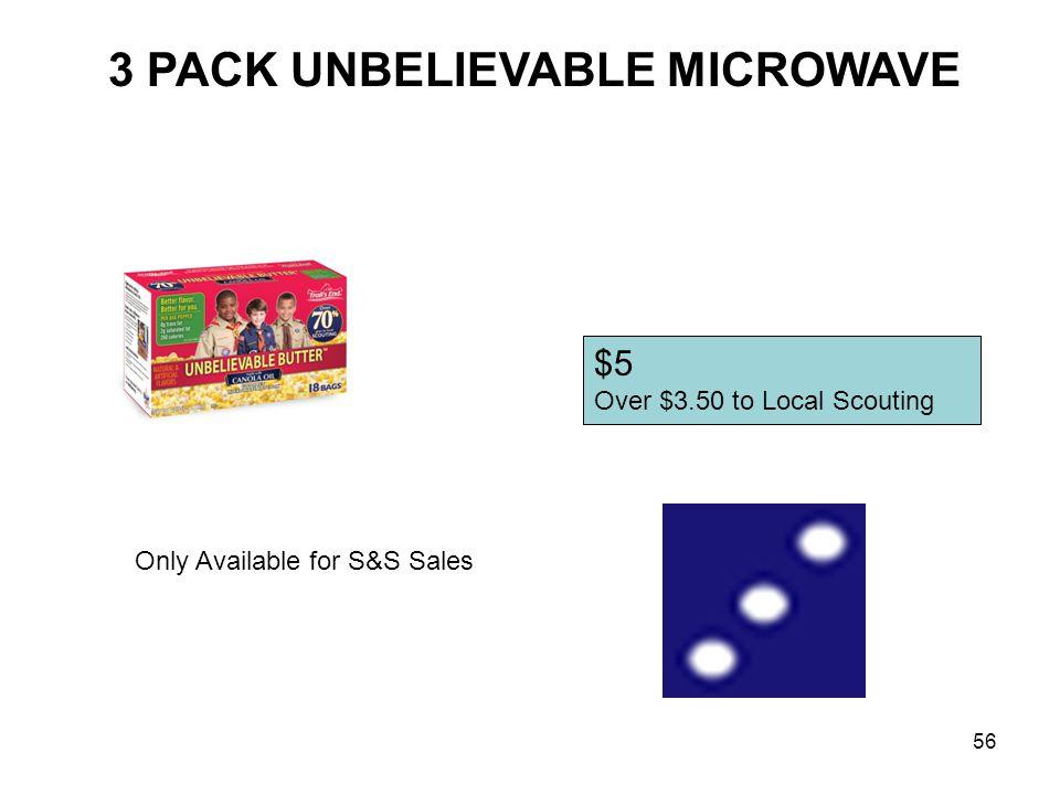 3 PACK UNBELIEVABLE MICROWAVE