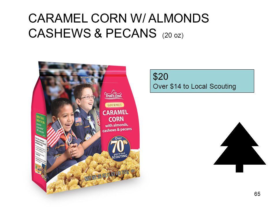 CARAMEL CORN W/ ALMONDS CASHEWS & PECANS (20 oz)