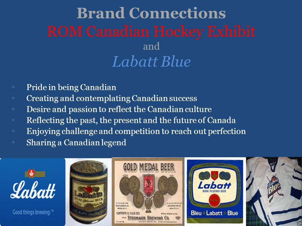 Brand Connections ROM Canadian Hockey Exhibit and Labatt Blue
