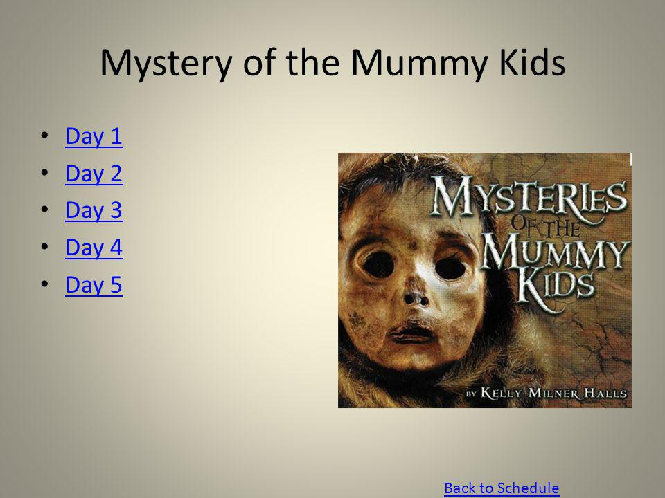 Mystery of the Mummy Kids