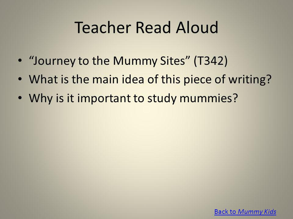 Teacher Read Aloud Journey to the Mummy Sites (T342)