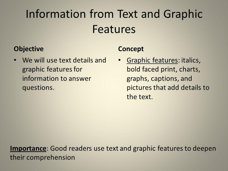 Information from Text and Graphic Features