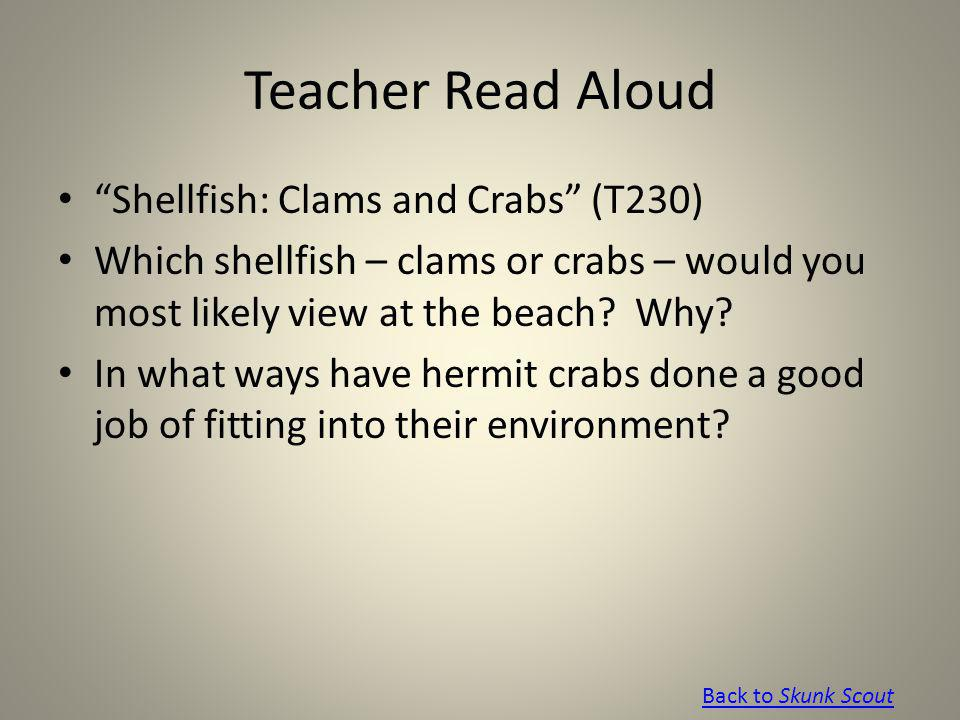 Teacher Read Aloud Shellfish: Clams and Crabs (T230)